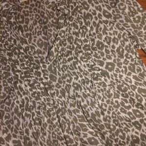 Michael Kors Tops - Michael Kors animal print Tunic Top! Flattering!